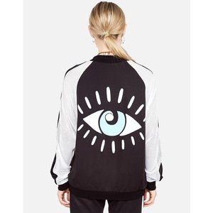 Lauren Moshi Eye Embroidered Jacket